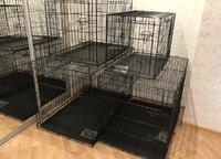 Клетки усиленные для собак, разборные с 2 дверьми
