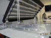 Держатель акриловый (комплект) для светильников CL и CLL (6-х ламповые) для установки на отбортовку аквариума