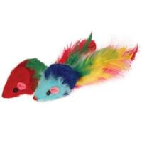 """Мышь 2"""" цветн погрем с пером"""
