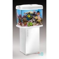 Аквaриум Aquael, REEFMAX 60, 105л, (60x40x45см)фигурный, белый, свет T5 3х24 Вт, оборудование