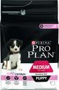 Pro Plan 14 кг, Корм сухой для щенков средних пород с чувствительной кожей с Лососем